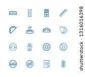 editable 16 donut icons for web ...   Shutterstock .eps vector #1316016398
