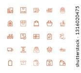 editable 25 merchandise icons... | Shutterstock .eps vector #1316020475