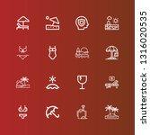 editable 16 umbrella icons for... | Shutterstock .eps vector #1316020535