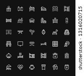 editable 36 bed icons for web... | Shutterstock .eps vector #1316020715