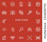 editable 22 lens icons for web... | Shutterstock .eps vector #1316020742