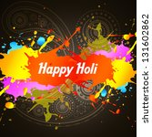 holi color splashes vector... | Shutterstock .eps vector #131602862