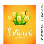 8 march international womens...   Shutterstock .eps vector #1316033738