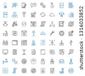 computer icons set. collection... | Shutterstock .eps vector #1316033852