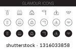 glamour icons set. collection... | Shutterstock .eps vector #1316033858