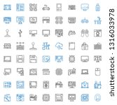 pc icons set. collection of pc... | Shutterstock .eps vector #1316033978