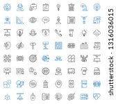 idea icons set. collection of... | Shutterstock .eps vector #1316036015