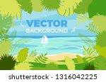 summer landscape. vector... | Shutterstock .eps vector #1316042225