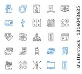 transfer icons set. collection... | Shutterstock .eps vector #1316043635