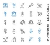 flora icons set. collection of... | Shutterstock .eps vector #1316043638