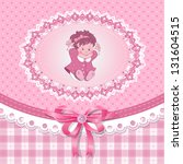 baby shower for girl with toy ...   Shutterstock .eps vector #131604515
