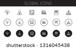 global icons set. collection of ... | Shutterstock .eps vector #1316045438