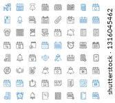 reminder icons set. collection... | Shutterstock .eps vector #1316045462