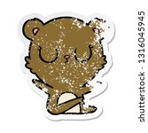 distressed sticker of a... | Shutterstock .eps vector #1316045945