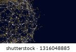 connected network sphere shape... | Shutterstock . vector #1316048885