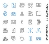 transfer icons set. collection... | Shutterstock .eps vector #1316050322