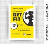 fitness center flyer modern... | Shutterstock .eps vector #1316057825