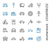 automobile icons set.... | Shutterstock .eps vector #1316058152