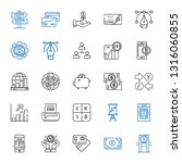 banking icons set. collection... | Shutterstock .eps vector #1316060855