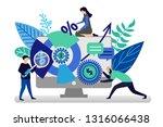 vector illustration in flat... | Shutterstock .eps vector #1316066438