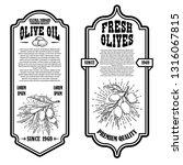 set of vintage olive oil flyer... | Shutterstock .eps vector #1316067815