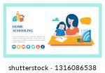 the concept of homeschooling.... | Shutterstock .eps vector #1316086538