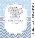 baby boy shower card. cute...   Shutterstock .eps vector #1316086835