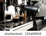 espresso- equipment - stock photo