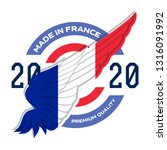 made in the france. badge with... | Shutterstock .eps vector #1316091992