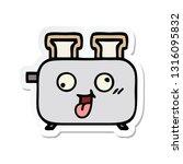 sticker of a cute cartoon of a... | Shutterstock .eps vector #1316095832