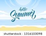 vector illustration  sunny... | Shutterstock .eps vector #1316103098