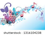 melody   decorative musical... | Shutterstock .eps vector #1316104238
