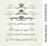 calligraphic graphic elements... | Shutterstock .eps vector #1316105222