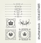 calligraphic graphic elements... | Shutterstock .eps vector #1316107685