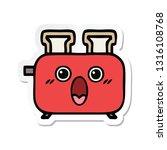 sticker of a cute cartoon of a... | Shutterstock .eps vector #1316108768