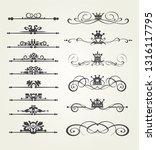 calligraphic vintage elements ... | Shutterstock .eps vector #1316117795