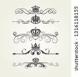 calligraphic vintage elements ... | Shutterstock .eps vector #1316118155