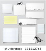 vector set of paper objects... | Shutterstock .eps vector #131612765