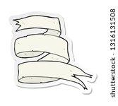 sticker of a old scroll banner...   Shutterstock .eps vector #1316131508