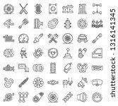car parts icons set. outline... | Shutterstock .eps vector #1316141345