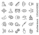contact lens icons set. outline ... | Shutterstock .eps vector #1316143382