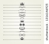 calligraphic design elements... | Shutterstock .eps vector #1316146925