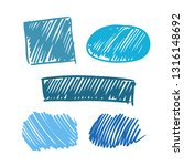 blue vector  strokes of marker... | Shutterstock .eps vector #1316148692