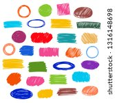 color vector  strokes of marker ... | Shutterstock .eps vector #1316148698