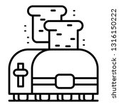 domestic toaster icon. outline... | Shutterstock .eps vector #1316150222