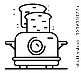 toaster icon. outline toaster... | Shutterstock .eps vector #1316150225