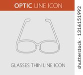 glasses vector icon. simple... | Shutterstock .eps vector #1316151992