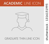 graduate vector icon. simple... | Shutterstock .eps vector #1316151995