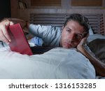 young attractive exhausted and... | Shutterstock . vector #1316153285