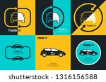 set of trade in concept.... | Shutterstock .eps vector #1316156588